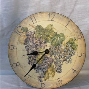 Grapevine Distressed Wooden Wall Clock